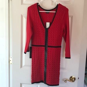 BEBE Zipper Bodycon Dress NWT